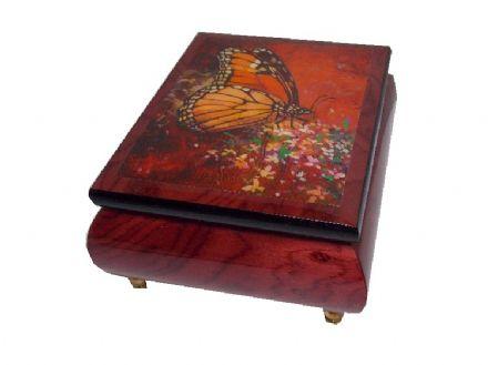 "Rose Red Ercolano Musical Jewellery Box - ""Bless The Day"" MSBG0305RDL"